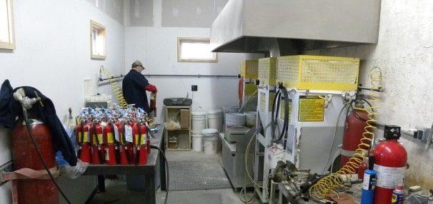 کارگاه شارژ کپسول های آتش نشانی
